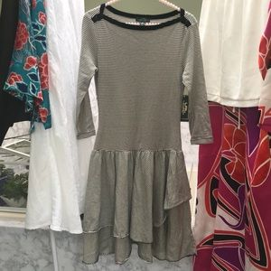 Lauren RL Boatneck Tiered Dress